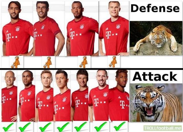 Bayern tan hoàng hàng thủ nhưng vẫn có hàng công quá khủng khiếp.