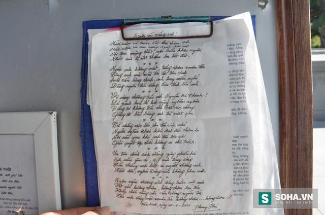 Bài thơ của một người dân sáng tác khi đến viếng mộ ông Thanh