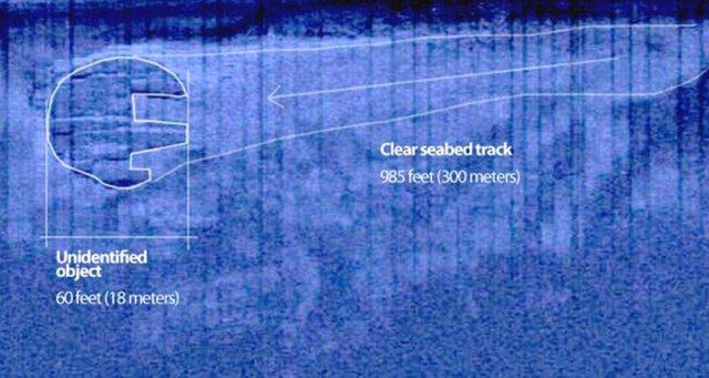 Hình ảnh cho thấy vật thể nghi UFO di chuyển dưới đáy biển
