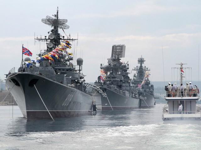 Các tàu chiến thuộc Hạm đội Biển Đen (Nga). Ảnh: Reuters.