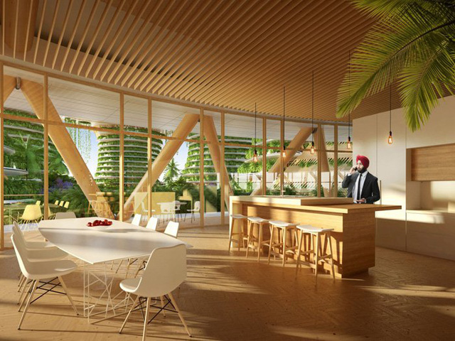 Những thiết kế từ gỗ tạo nên ảm giác ấm áp và thân thiện chứ không hào nhoáng, hiện đại.