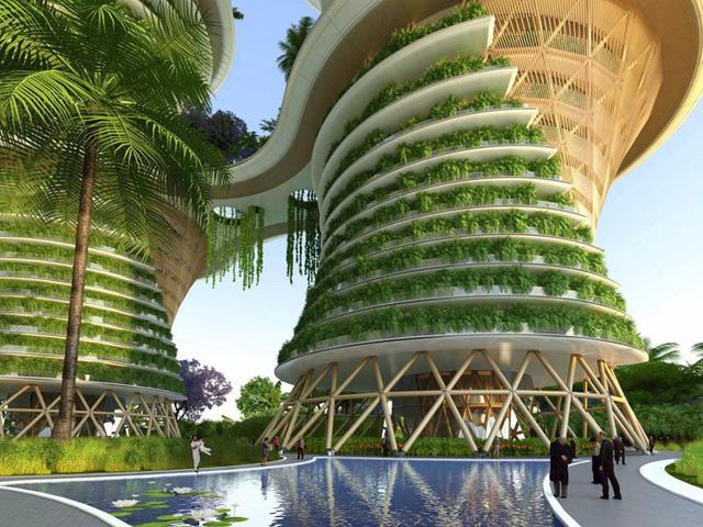Với cấu trúc gỗ bên trong và hệ thống cây xanh, đây hứa hẹn là dự án tiềm năng của tương lai.