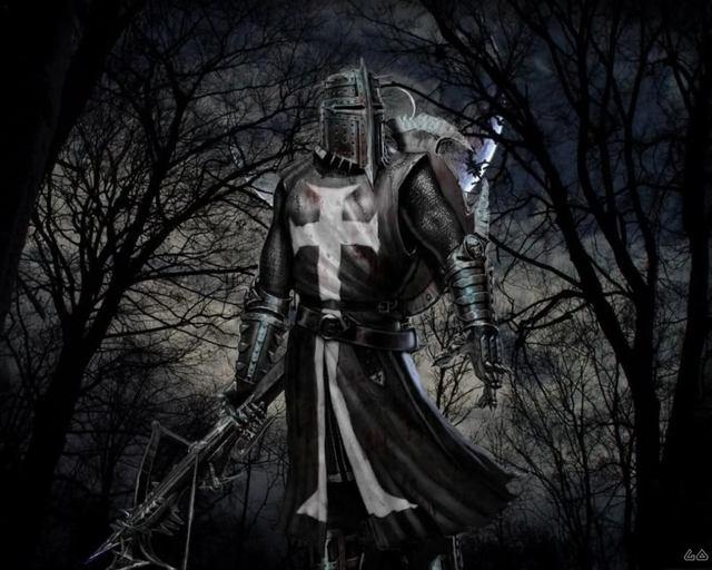 Hình tượng bí ẩn của hiệp sĩ.