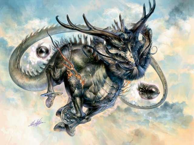 Nhưng phần lớn hình ảnh Lân được khắc họa là có sừng của loài Nai, tai Chó, trán Lạc Đà, mắt Quỷ, mũi Sư Tử, miệng rất rộng, có thân Ngựa, chân Hươu, đuôi Bò.