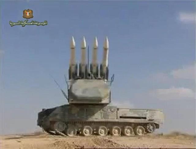 Xe mang phóng tự hành (TELAR) của tổ hợp Buk-M2E Syria