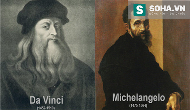 Đều là các thiên tài phục hưng nhưng họ lại hoàn toàn trái ngược nhau, thâm chí tương phản, nếu Leonardor Da Vinci là hiện thân của thiên tài cao quý, với những bộ đồ hợp thời trang, phong thái tao nhã, điềm đạm, bí ẩn và khuôn mặt thanh tú…