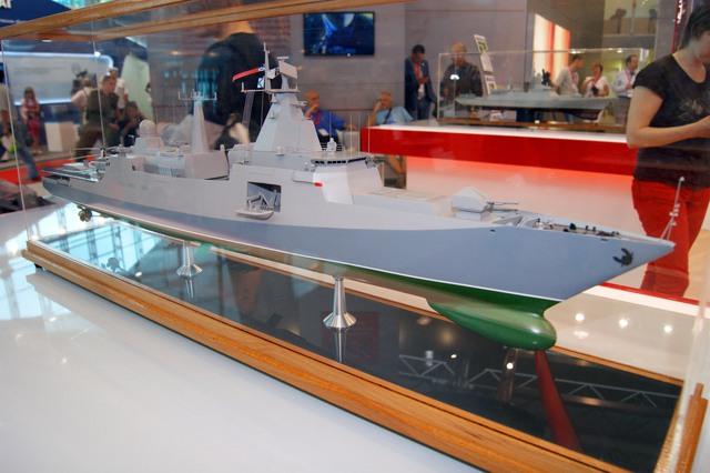 Thiết kế tàu Korsar tại Triển lãm Hải quân quốc tế IDMS.