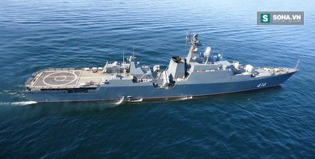 Tàu hộ vệ tên lửa Gepard 3.9 của Việt Nam trong quá trình chạy thử nghiệm tại Nga