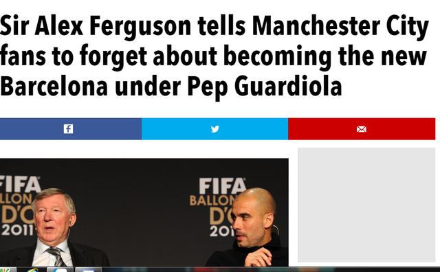Sir Alex vùi dập hi vọng của Man City.