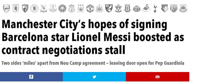 Man City nối lại hi vọng trong thương vụ Messi?