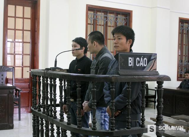 3 bị cáo tại phiên tòa ngày 28/1.