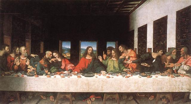 """Bức tranh """"Bữa ăn cuối cùng""""."""