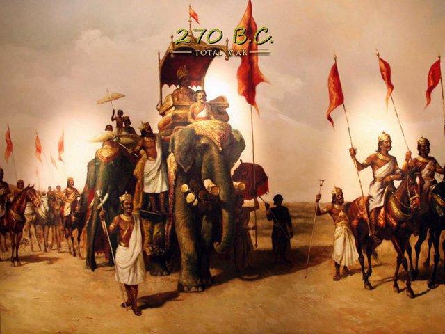 Đế quốc Khổng tước 270 TCN.