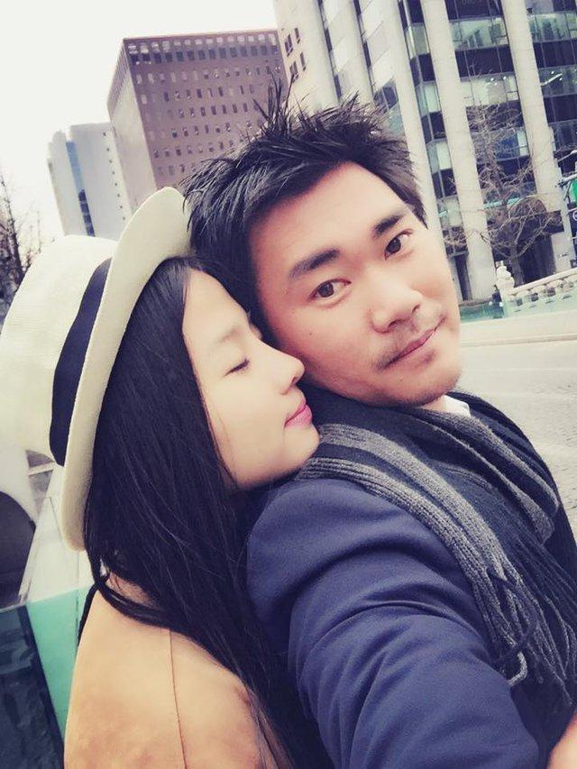 Một vài khoảnh khắc của Khánh Hiền bên James Ngô.