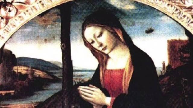 """Bức tranh """"Đức Mẹ của Thánh Giovannio""""."""