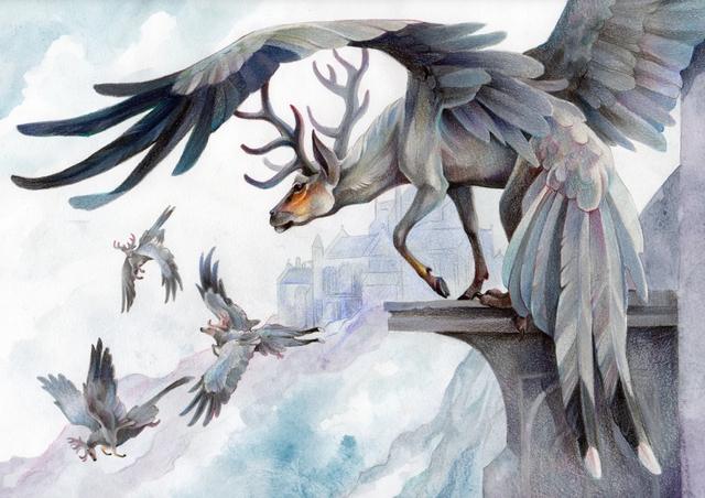 Hươu có cánh.