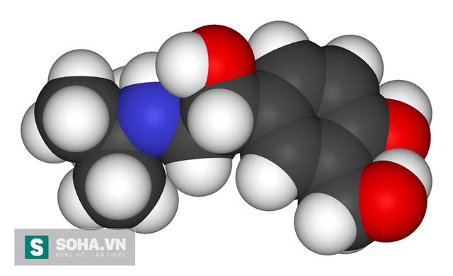 Công thức phân tử của salbutamol là C13H21O3N.