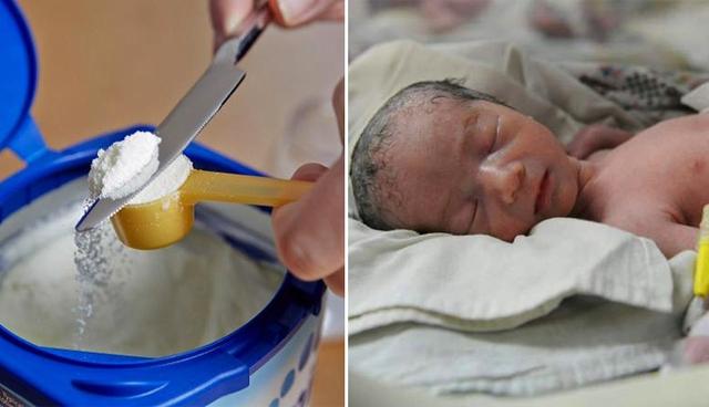 Cháu bé 2 tháng tuổi ở Trung Quốc nguy kịch vì viêm ruột hoại tử và nguyên nhân là do cha mẹ của bé pha sữa quá đặc.