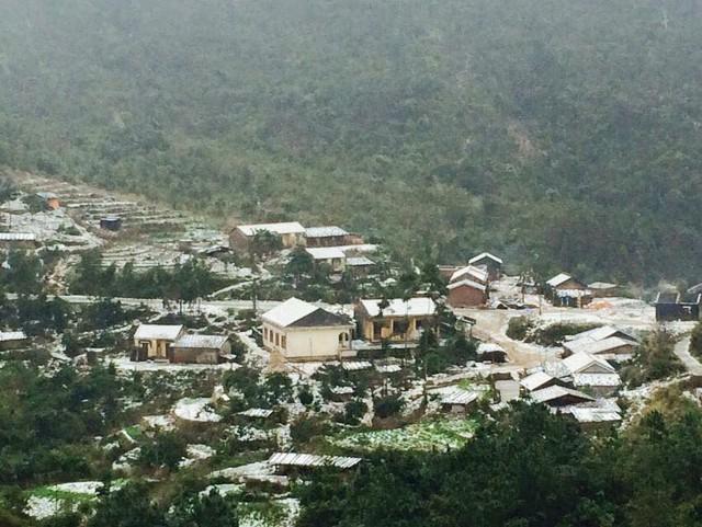 Tuyết tại Bình Liêu. Ảnh: Báo Quảng Ninh