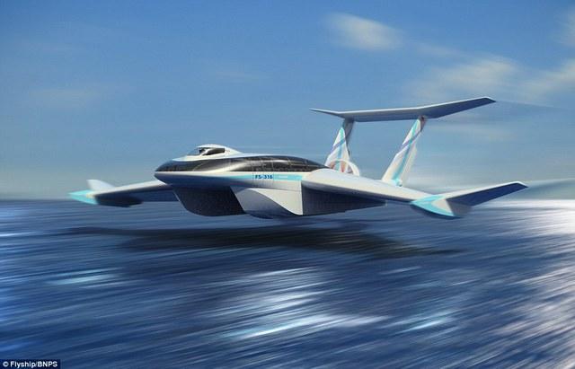 FlyShip có thể bay trên mặt nước