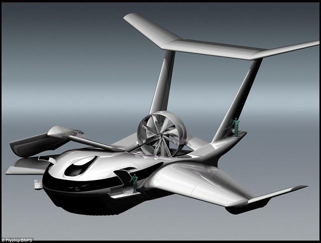 Trên thân FlyShip có guồng cánh quạt