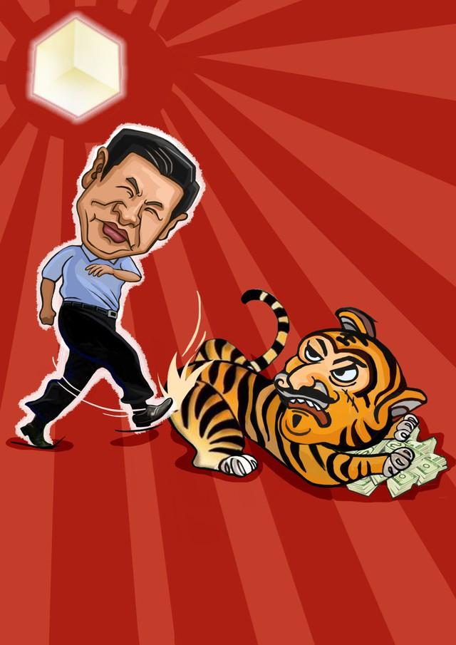 Hình ảnh trong cuốn truyện tranh Đả hổ gây sốt trên thị trường Trung Quốc vào dịp tết Âm lịch 2015.