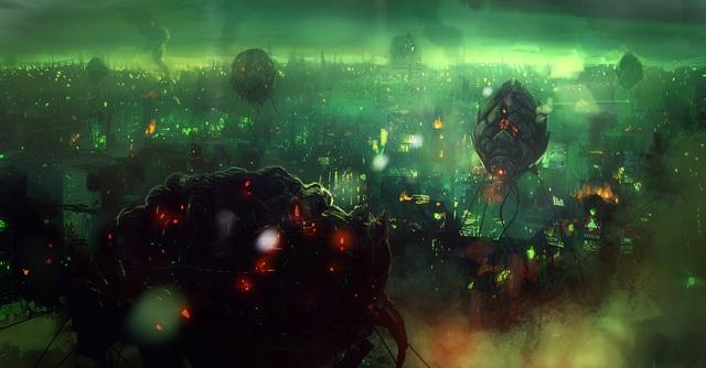 ... của người ngoài hành tinh dưới lòng đất. Hình minh họa.