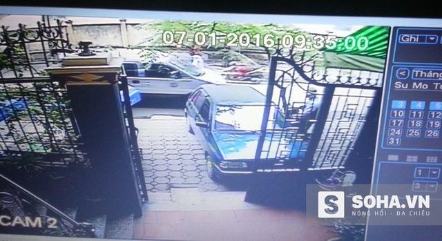 Camera an ninh của gia đình ông Phi đã ghi lại hình ảnh tên trộm