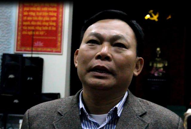 Ông Trương Văn An - Bí thư Đảng ủy xã Hạ Sơn, nơi phản ánh là cả họ làm quan xã.