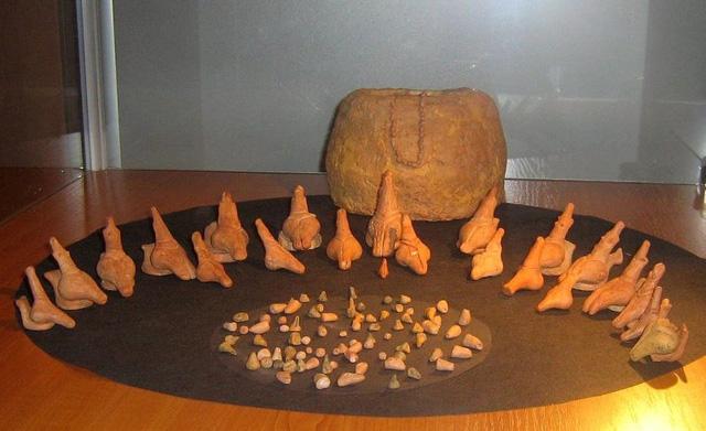 Các hình đất sét nung được khám phá trong thời kỳ 4900-4750 TCN ở Balta Popii, Romania