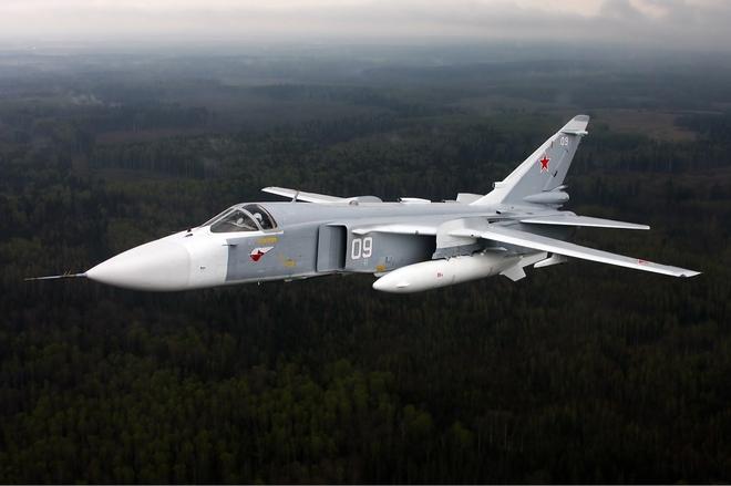 Máy bay ném bom Su-24.