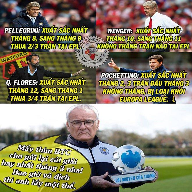 Ranieri rất cảnh giác với danh hiệu HLV xuất sắc nhất tháng.