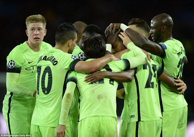 Niềm vui của Man City.