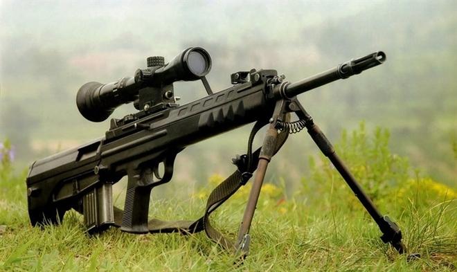 Súng trường bắn tỉa KBU-97A cũng do Trung Quốc sản xuất, tầm bắn hiệu quả 400 - 800 m dùng đạn 5,56 mm chuẩn NATO, hộp tiếp đạn 10 viên.