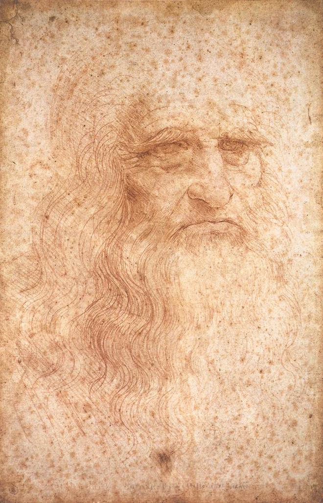 Bức chân dung tự họa duy nhất của Leonardo da Vinci (vẽ khoảng 1512-1515).