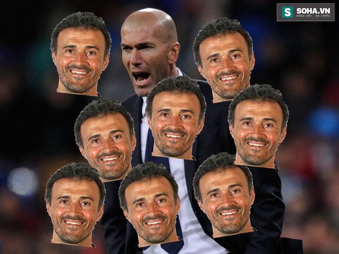 Luis Enrique cười nhạo Zidane.