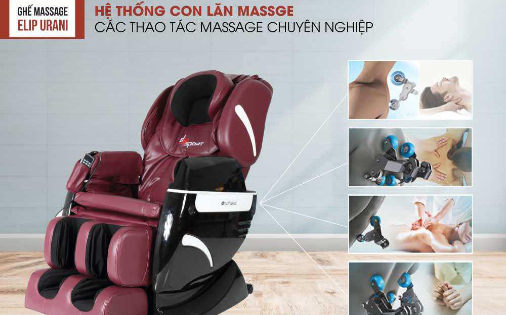 Bật mí về những công dụng tuyệt vời của ghế massage