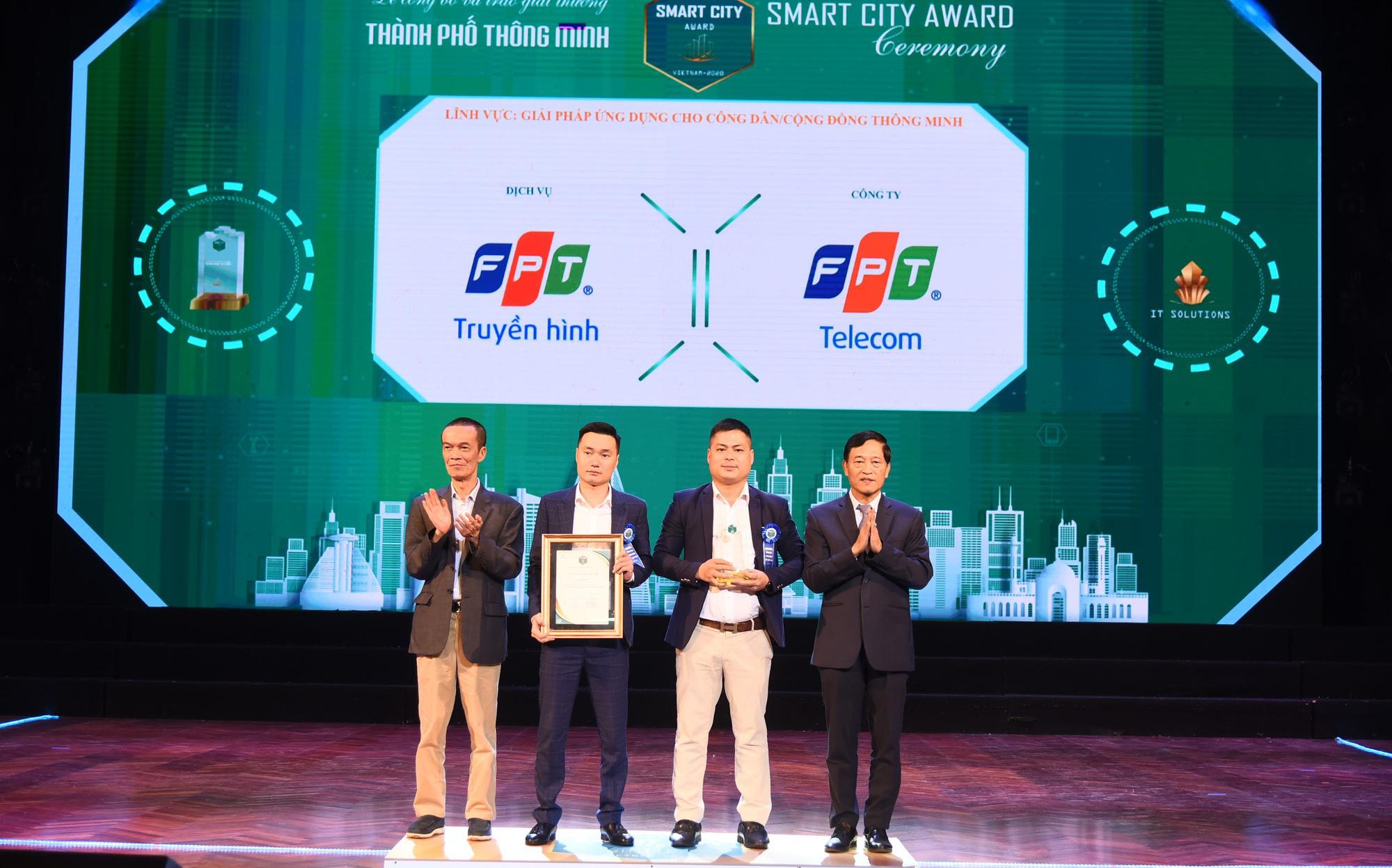 """Truyền hình FPT nhận giải thưởng """"Thành phố thông minh 2020"""""""
