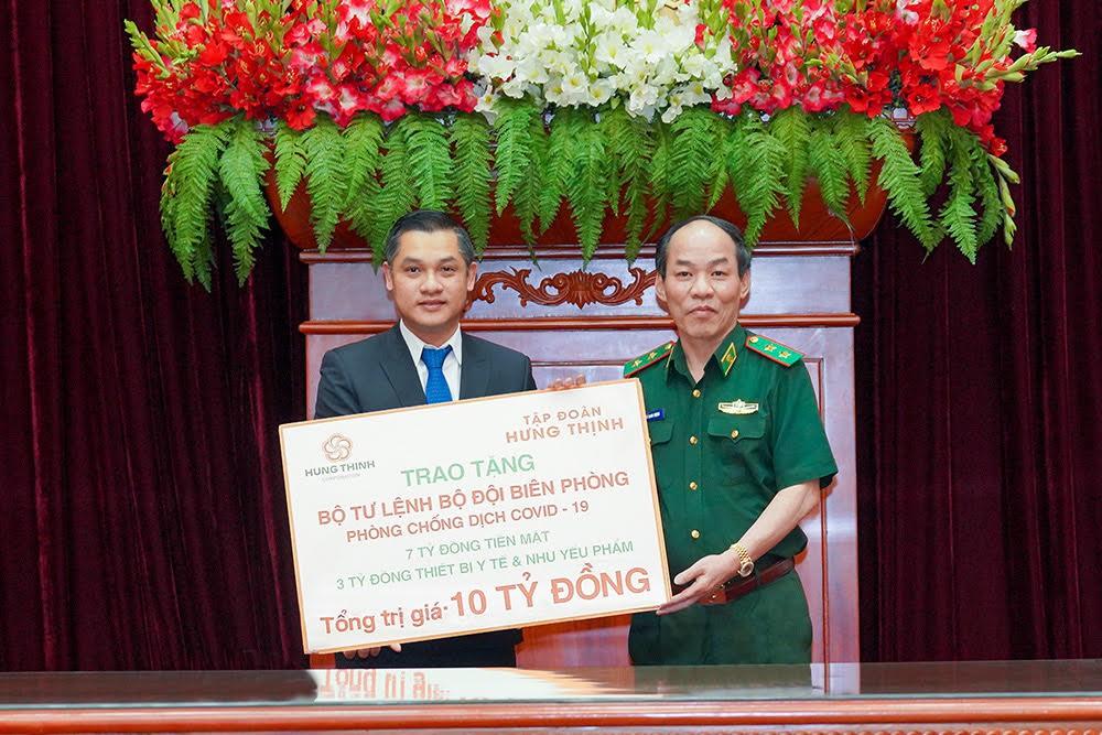 Tập đoàn Hưng Thịnh tặng Bộ Tư lệnh Bộ đội Biên phòng 10 tỷ đồng hỗ trợ phòng chống Covid-19  - Ảnh 1.