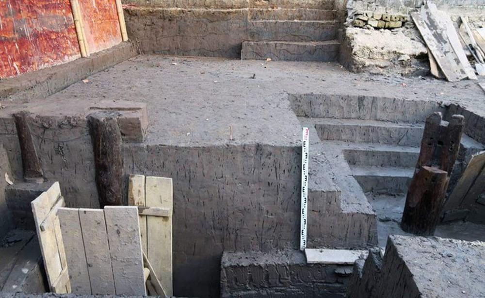 Thêm 37 cọc gỗ phát lộ được nhận định liên quan đến trận Bạch Đằng - Ảnh 5.