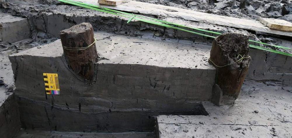 Thêm 37 cọc gỗ phát lộ được nhận định liên quan đến trận Bạch Đằng - Ảnh 9.