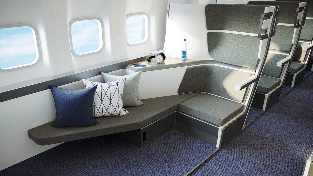 Ghế ngồi hai tầng: Tương lai của khoang máy bay  hạng phổ thông - Ảnh 1.