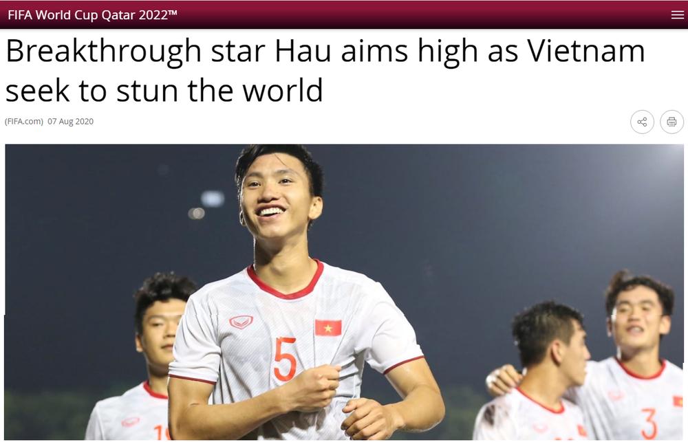 FIFA phỏng vấn Đoàn Văn Hậu, nhắc về mục tiêu gây choáng váng thế giới của ĐT Việt Nam - Ảnh 1.
