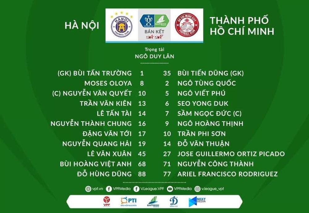 KẾT THÚC Hà Nội 5-1 TP.HCM: Bùi Tiến Dũng khổ sở, đội khách liên tục bị vùi dập - Ảnh 1.