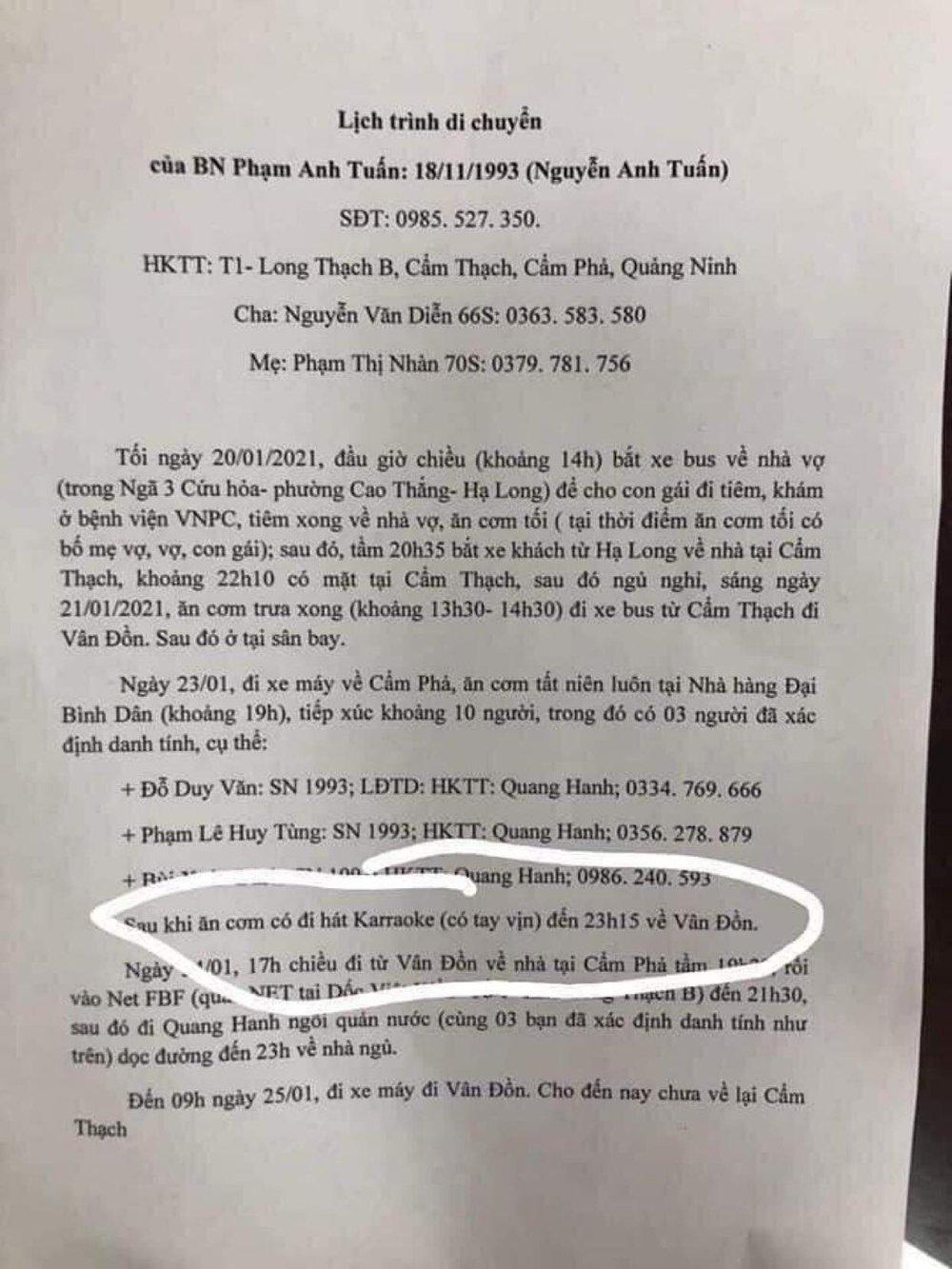 Lập danh sách, triệu tập người chia sẻ tin bệnh nhân nhiễm Covid-19 ở Quảng Ninh đi karaoke có tay vịn - Ảnh 2.