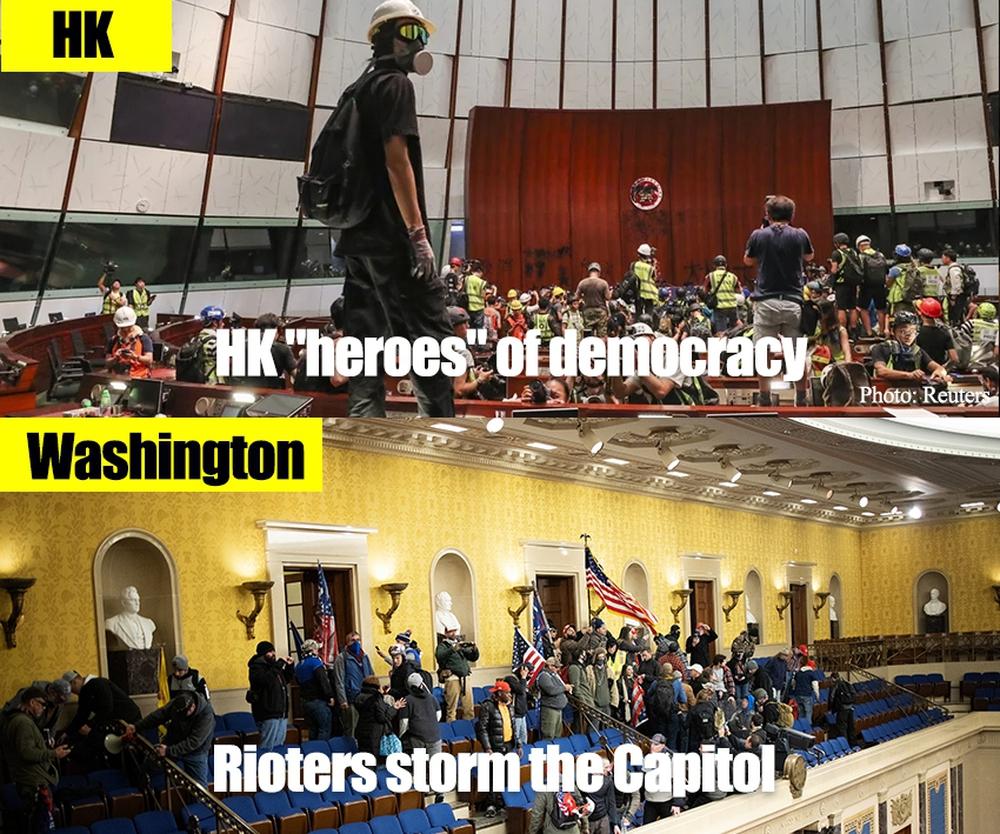 Hoàn Cầu: Dân TQ hả hê gọi biểu tình ở Mỹ là nhân quả, bong bóng tự do dân chủ đã vỡ - Ảnh 1.