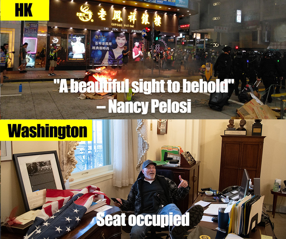 Hoàn Cầu: Dân TQ hả hê gọi biểu tình ở Mỹ là nhân quả, bong bóng tự do dân chủ đã vỡ - Ảnh 2.