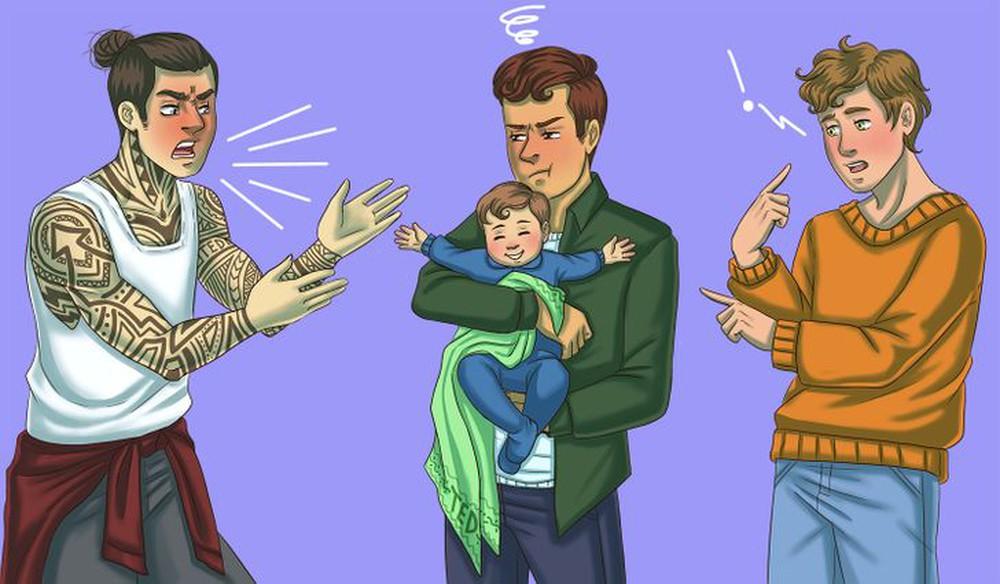 Thử tài phán đoán: Chỉ người nhanh nhạy mới tìm ra ai là bố đứa trẻ trong 1 giây - Ảnh 3.