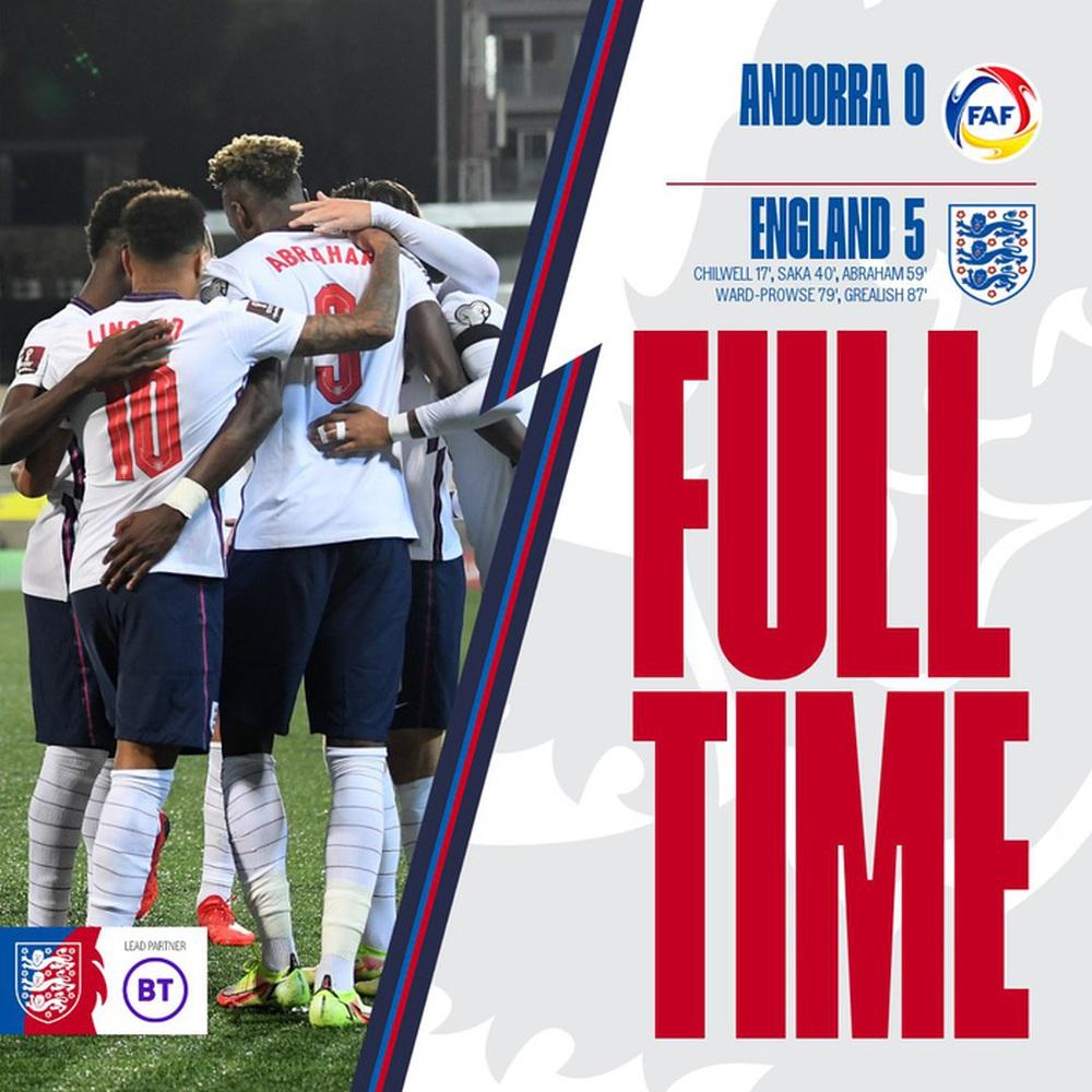 Tuyển Anh hủy diệt tí hon Andorra 5 bàn không gỡ - Ảnh 1.