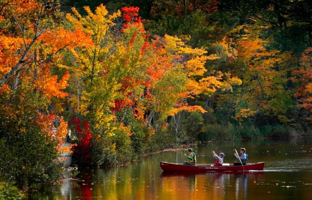 24h qua ảnh: Du khách chèo thuyền ngắm cảnh mùa thu ở Mỹ - Ảnh 2.